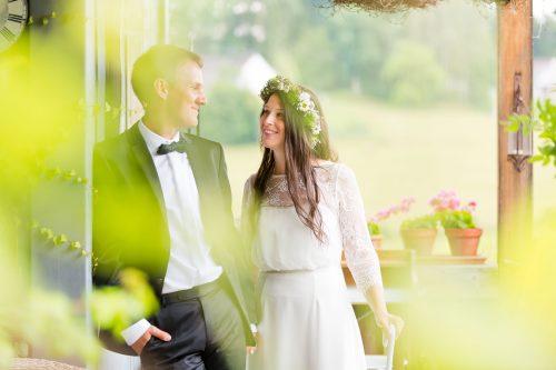 Hochzeit in der Träumerei Hochzeitsfotos im Grünen Gartenhochzeit