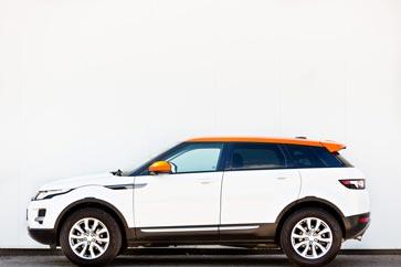 Range Rover Evoque Fotograf Wien Hochzeitsfotos orange-foto